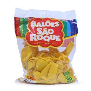Balão São Roque Liso Amarelo Citrino
