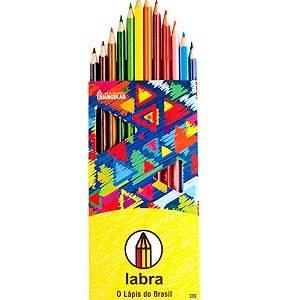 Lápis de Cor Triangular Labra 12 cores