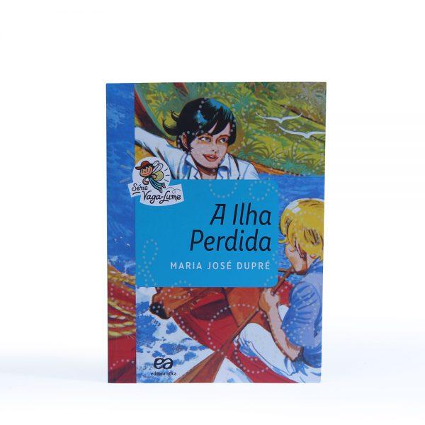 Livro: A ilha perdida. Autor: Maria Jose Dupre. Editora: Ática. -0