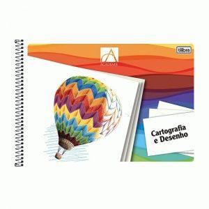 #CADERNO DE CARTOGRAFIA E DESENHO MILIMETRADO – 48 FOLHAS – ACADÉMIE – TILIBRA