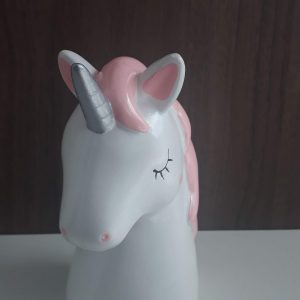 #COFRE DEC PORCELANA UNICORNIO