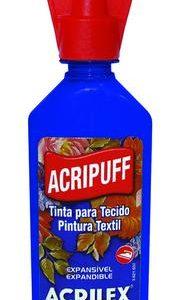 #TINTA PARA TECIDO – AZUL COBALTO – 35ml – ACRIPUFF – ACRILEX