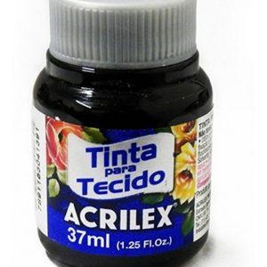 #TINTA PARA TECIDO – PRETO – 37 ml. – ACRILEX