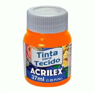 #TINTA PARA TECIDO – LARANJADO – 37 ml. – ACRILEX