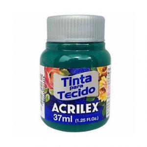 #TINTA PARA TECIDO – VERDE BANDEIRA – 37 ml. – ACRILEX
