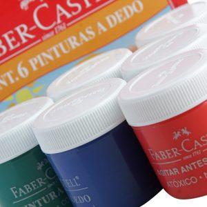 #PINTURA A DEDO 25ML – 6 CORES FABER-CASTELL