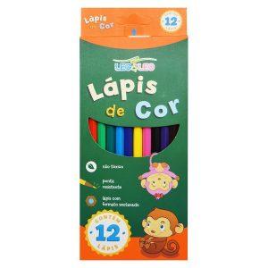 #LAPIS 12 CORES RESINA SEXTAVADO FLEX LEOELEO