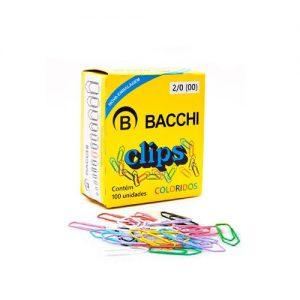 #CLIPS COLORIDO BACCHI Nº 2/0 CX COM 100UN