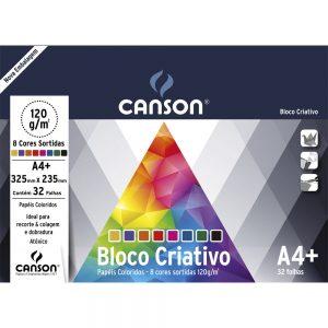 #BL CRIATIVO 8 CORES ESTUDANTE 32FLS A4+ 120GM2