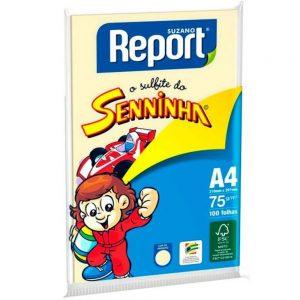 #PAPEL SULFITE REPORT A4 75 210X297MM CORES AMARELO